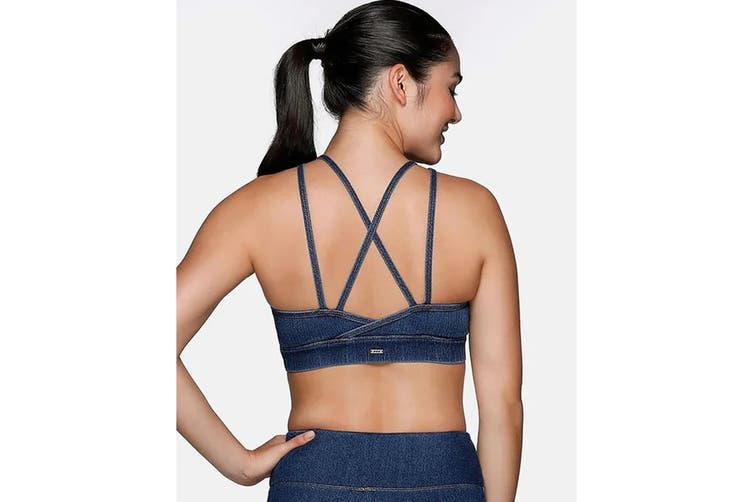 Lorna Jane Women's Rocker Sports Bra (Denim, M)