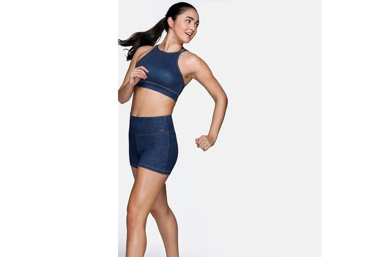 Lorna Jane Women's Rocker Sports Bra (Denim, XS)