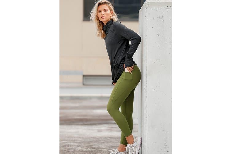 Lorna Jane Women's Nothing 2 C Here A/B Leggings (Super Green, XL)