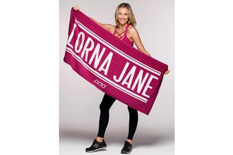 Lorna Jane Women's Lorna Jane Towel (Cerise/White, 1SZ)