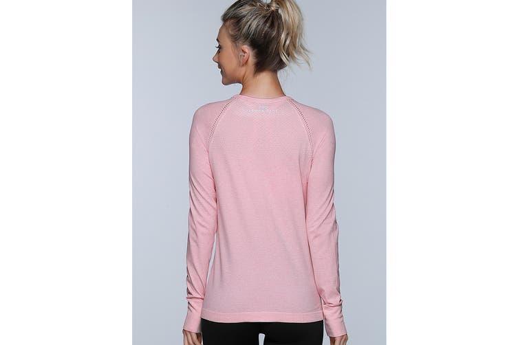 Lorna Jane Women's Freedom Long Sleeve Seam Top (Blushed Pink Marl, L)