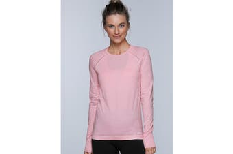 Lorna Jane Women's Freedom Long Sleeve Seam Top (Blushed Pink Marl)