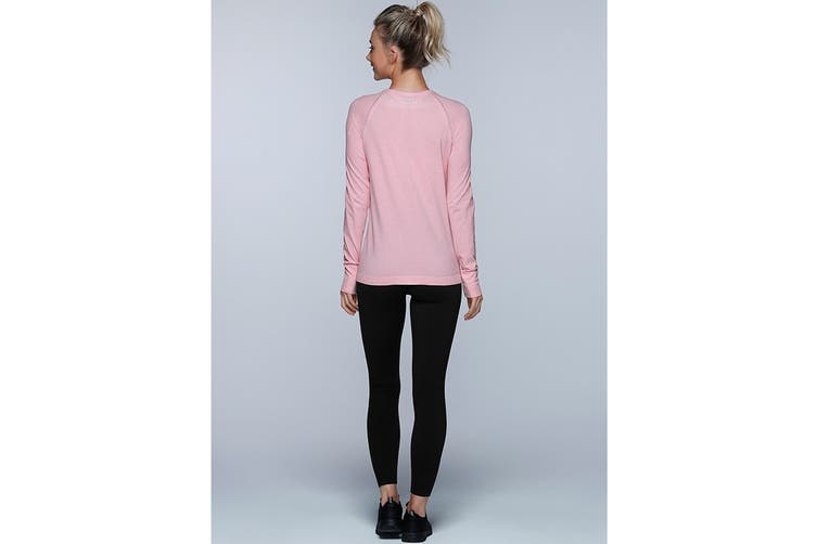 Lorna Jane Women's Freedom Long Sleeve Seam Top (Blushed Pink Marl, XL)