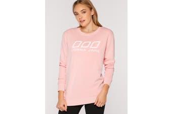Lorna Jane Women's Varsity Sweat Top (Enchanted Pink)
