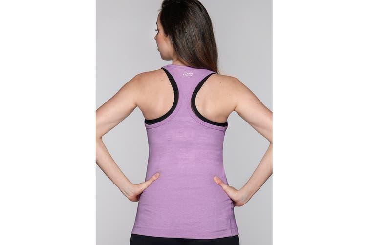 Lorna Jane Women's LJ Maternity Tank Top (Soft Lilac Marl, L)