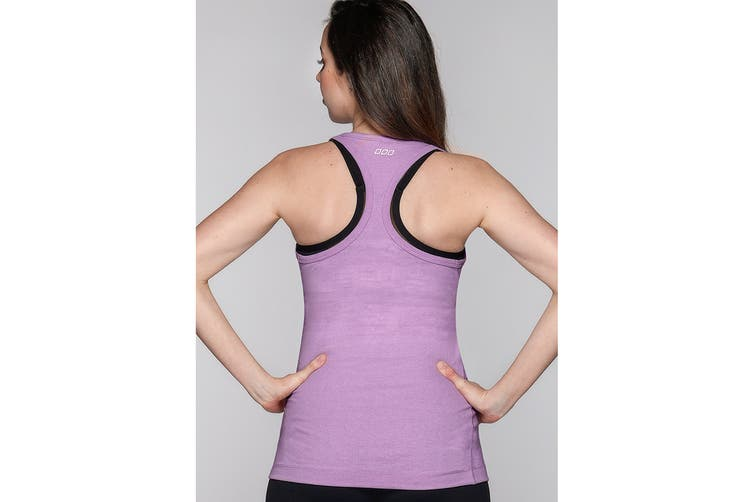 Lorna Jane Women's LJ Maternity Tank Top (Soft Lilac Marl, XS)