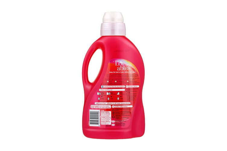 Lovables 1.5L Laundry Liquid Front & Top Loader For Colours Care & Renew (8 Pack)