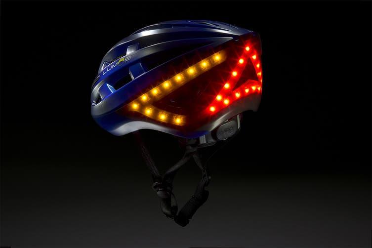 Lumos Smart Helmet with Built-In Lights and Indicators (Cobalt Blue)