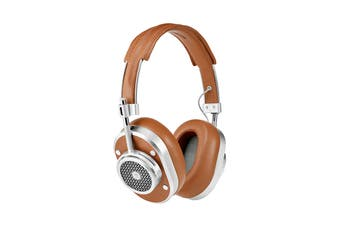 Master & Dynamic MH40 Wireless Over Ear Headphone - Silver Metal/Brown Coated Canvas (MH40S2-W)
