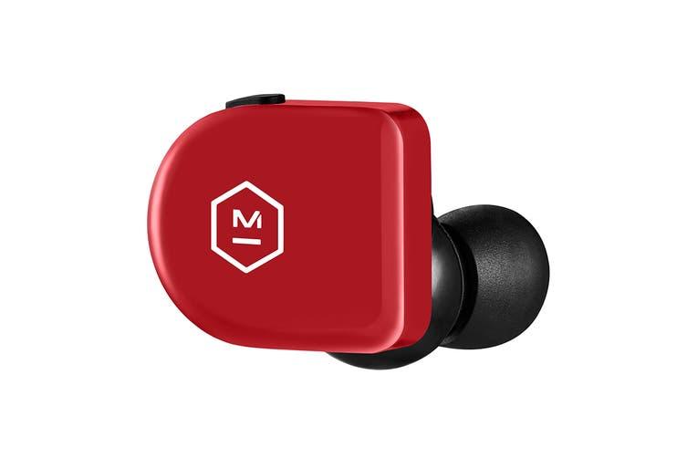 Master & Dynamic MW07 Go True Wireless Earphones - Flame Red (MW07FR-GO)