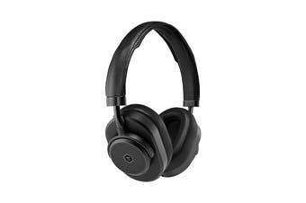 Master & Dynamic MW65 Active-Noise-Cancelling Wireless Over-Ear Headphone - Black Metal/Black Leather (MW65B1)