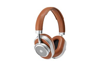 Master & Dynamic MW65 Active-Noise-Cancelling Wireless Over-Ear Headphone - Brown/Silver (MW65S2)