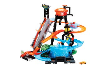 Hot Wheels City Ultimate Gator Car Wash Playset