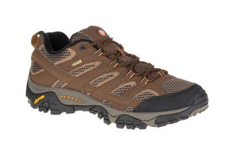 Merrell Men's Moab 2 Gore-Tex Hiking Shoe (Earth, Size 9.5 US)