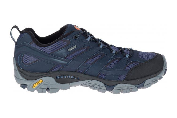 Merrell Men's Moab 2 Gore-Tex Hiking Shoe (Navy, Size 8.5 US)