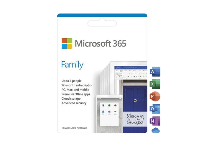 Microsoft 365 Family 6 People 12 Month Card - Activiation Card