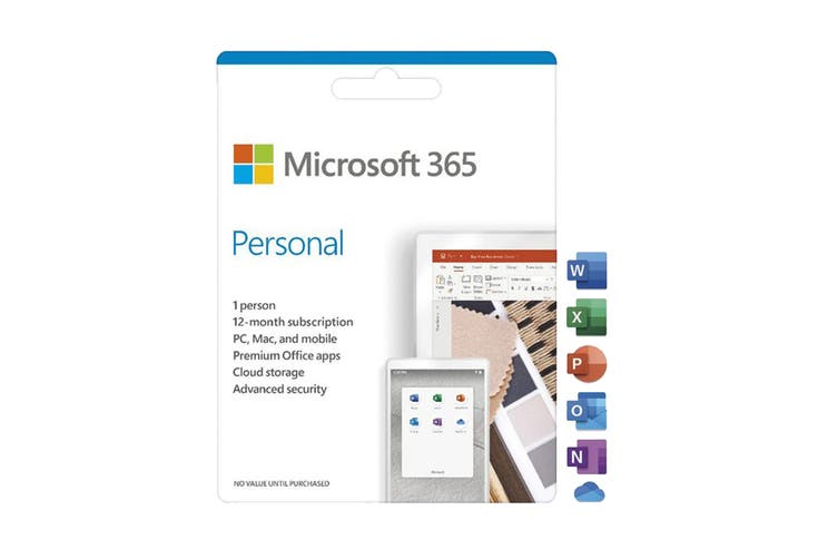 Microsoft 365 Personal 1 Person 12 Month Card - Activiation Card