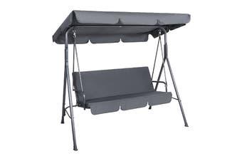 Milano Outdoor Steel Swing Chair - Grey