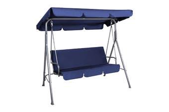 Milano Outdoor Steel Swing Chair - Dark Blue