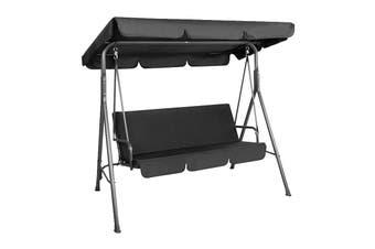 Milano Outdoor Steel Swing Chair - Black