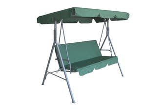 Milano Outdoor Steel Swing Chair - Dark Green