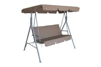 Milano Outdoor Steel Swing Chair -  Coffee
