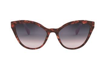 Miu Miu 0MU03US Sunglasses (Orchid Havana) - Pink Gradient Violet Mirror Silver