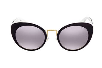 Miu Miu 0MU06TS Sunglasses (Black/White) - Violet Pink Shaded Mirror