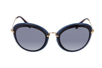 Miu Miu 0MU50RS Sunglasses (Grey/Black) - Grey Blue