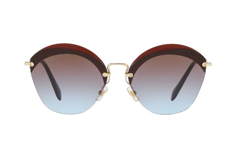 Miu Miu 0MU53SS Sunglasses (Opal Cocoa) - Azure gradient pink brown