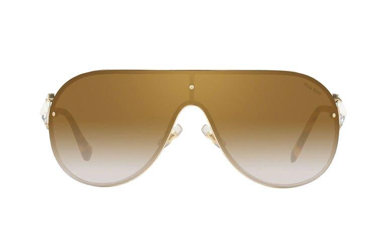 Miu Miu 0MU67US Evolution Sunglasses (Pale Gold) - Brown Shaded Mirror