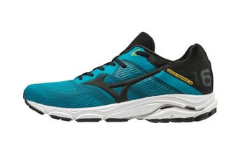Mizuno Men's Wave Inspire 16 Running Shoe (Enamel Blue/Black/Saffron, Size 7.5 UK)