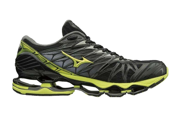 Mizuno Men's WAVE PROPHECY 7 Running Shoe (Black/Lime Punch/Oark Shadow, Size 10 US)
