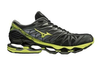 Mizuno Men's WAVE PROPHECY 7 Running Shoe (Black/Lime Punch/Oark Shadow)