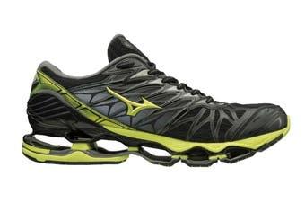 Mizuno Men's WAVE PROPHECY 7 Running Shoe (Black/Lime Punch/Oark Shadow, Size 9 US)