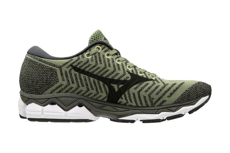 Mizuno Men's Wave Knit S1 Running Shoe (Green/Black, Size 10.5 US)