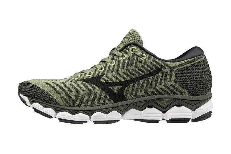 Mizuno Men's Wave Knit S1 Running Shoe (Green/Black, Size 10 US)