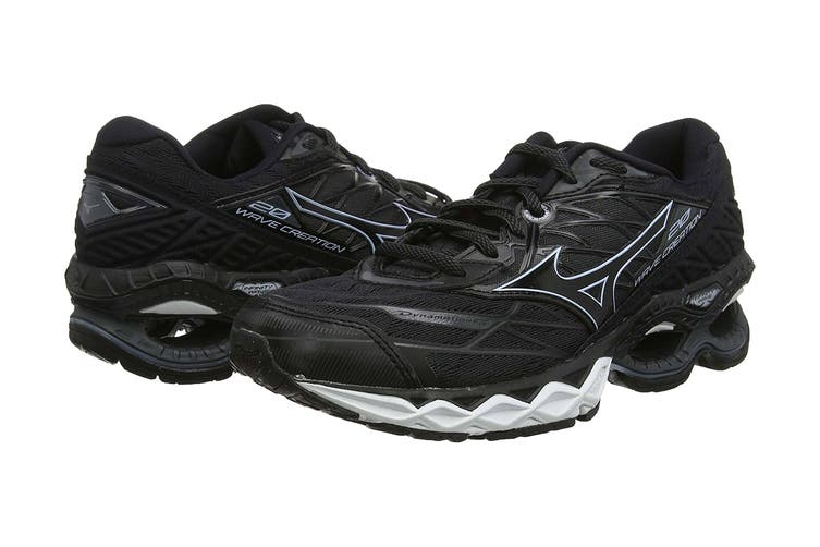 Mizuno Men's Wave Creation 20 Running Shoe (Black, Size 7.5 US)