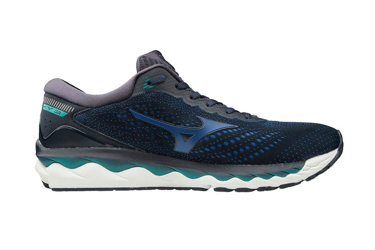 Mizuno Men's Wave Sky 3 Running Shoe (Navy Blazer/True Blue/Lapis, Size 8 UK)