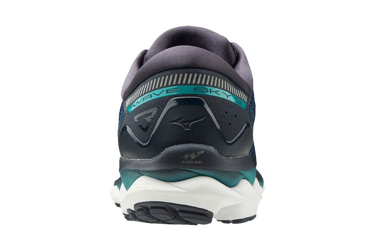 Mizuno Men's Wave Sky 3 Running Shoe (Navy Blazer/True Blue/Lapis, Size 9.5 UK)