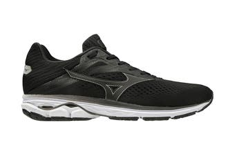 Mizuno Men's Wave Rider 23 Running Shoe (Black/Black/Met.Shadow, Size 12 US)