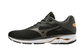 Mizuno Men's Wave Rider 23 Running Shoe (Black/Dark Shadow/Gray, Size 10.5 UK)