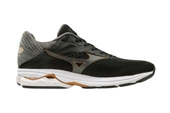 Mizuno Men's Wave Rider 23 Running Shoe (Black/Dark Shadow/Gray, Size 12 UK)