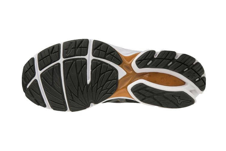 Mizuno Men's Wave Rider 23 Running Shoe (Black/Dark Shadow/Gray, Size 8 UK)