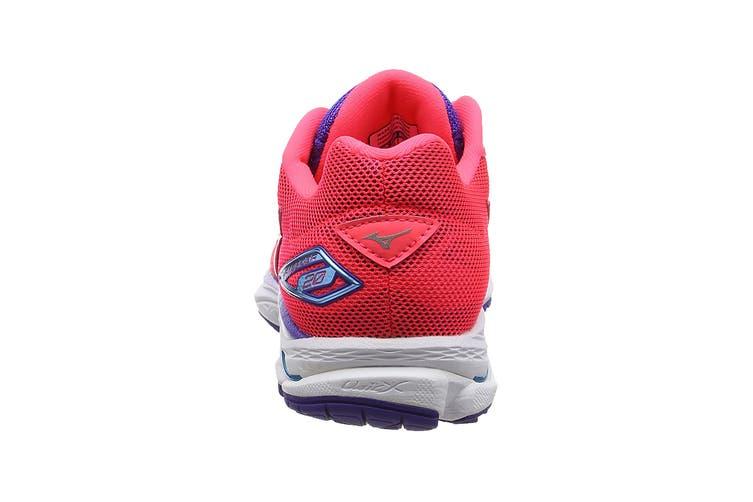 Mizuno Women's Wave Rider 20 Running Shoe (Diva Pink/Silver, Size 6.5 US)