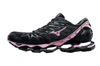 Mizuno Women's WAVE PROPHECY 7 Running Shoe (Black/Rose Shadow/Dark Shadow, Size 6.5 US)