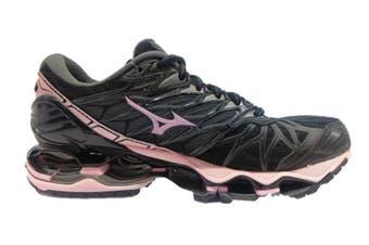 Mizuno Women's WAVE PROPHECY 7 Running Shoe (Black/Rose Shadow/Dark Shadow, Size 7.5 US)
