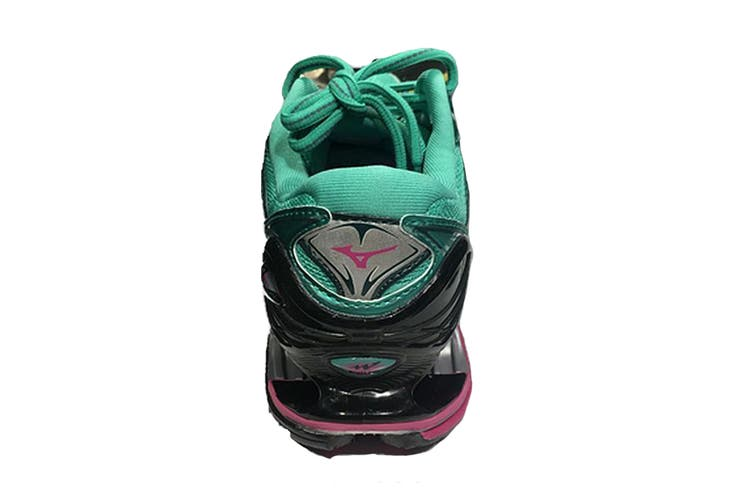Mizuno Women's WAVE PROPHECY 7 Running Shoe (Billiard/Fuchsia Purple/Pacific, Size 6.5 US)