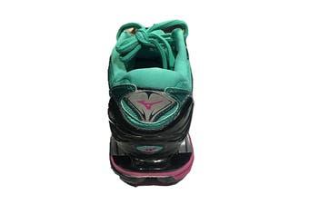 Mizuno Women's WAVE PROPHECY 7 Running Shoe (Billiard/Fuchsia Purple/Pacific, Size 8.5 US)