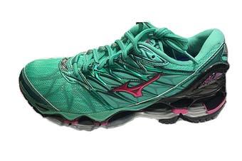 Mizuno Women's WAVE PROPHECY 7 Running Shoe (Billiard/Fuchsia Purple/Pacific, Size 9 US)